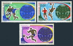 Dahomey C121-C123,MNH.Michel 414-416. World Soccer Cup Mexico-1970.