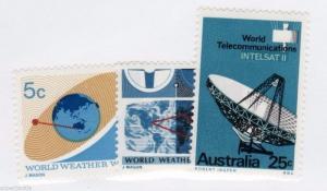 1967 Australia Sc #431 432 433 ** MNH F/VF set Telecommunications stamps.