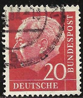 Germany 1954 Scott# 710 Used