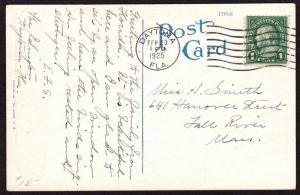 $Florida Machine Cancel Cover, Daytona, 2/23/1925, 7 wavy lines slope down