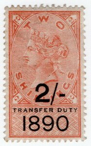 (I.B) QV Revenue : Transfer Duty 2/- (1890)