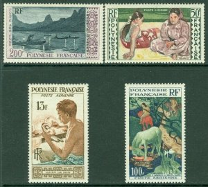 EDW1949SELL : FRENCH POLYNESIA 1958 Scott #C24-27 Cplt set. VF, Mint NH. Cat $85