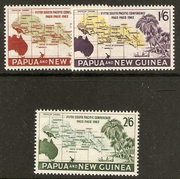 PAPUA NEW GUINEA SG36/8 1962 SOUTH PACIFIC CONFERENCE MNH