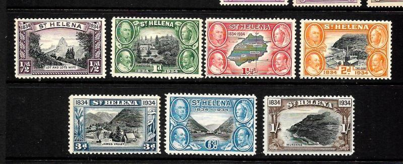 ST HELENA  1934  PICTORIALS   PART SET 6    MH   SG 114/20