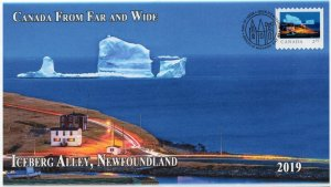 CA19-016, 2019,Far and Wide, Pictorial Postmark, First Day Cover, Iceberg Alley,
