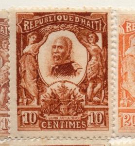 Haiti 1904 Early Issue Fine Mint Hinged 10c. 073438