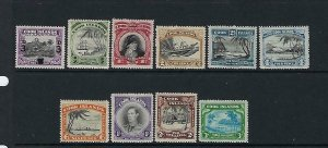 COOK ISLANDS- SCOTT #115-124  1940-46 GEORGE VI WMK 253 - MINT LIGHT HINGED