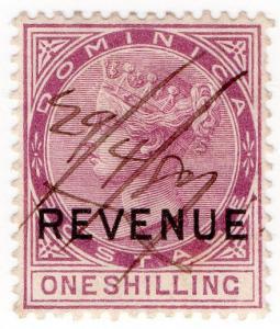(I.B) Dominica Revenue : Duty Stamp 1/- (1878)