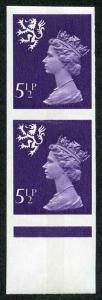 SGS22a Scotland 5.5p ERROR Imperf Pair U/M