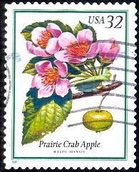 Flowering Tree, Prairie Crab Apple, USA stamp SC#3196 used