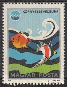 Hungary, Sc 2375, CTO-NH, 1975, Fish