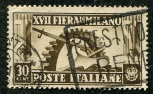 Italy SC# 356 Symbol of  Milan Trade Fair USED