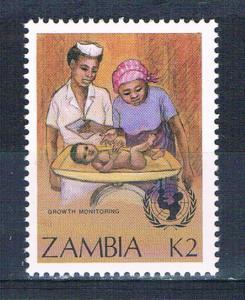 Zambia 441 MNH Child growth monitoring 1988 (Z0003)+