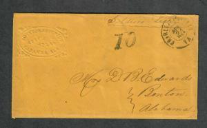 Charlottesville VA Cover Apr 25 1864 Boynton Atty's Env. Due 10