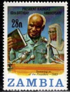 Zambia - #301 60th Birthday of President Kaunda -MNH