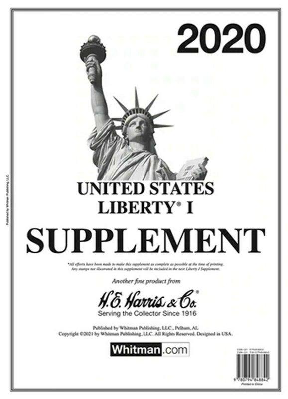 H E Harris Liberty 1 2020 Stamp Album Supplement ( HE HARRIS LIBERTY I 2020 )