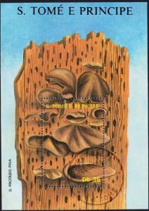 Sao Tome Fungi Mushrooms MS issue 1988 CTO SC#822