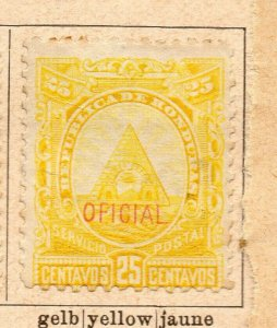 Honduras 1890 Early Issue Fine Mint Hinged 25c. Official Optd NW-11885