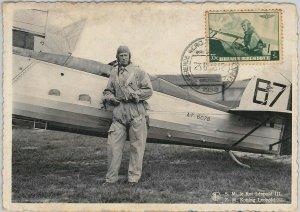 57001 - BELGIUM - POSTAL HISTORY: MAXIMUM CARD 1938 - ROYALTY / Aviation