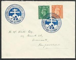 GB 1944 Czechoslovakia Field PO in GB cover, commem cancel.................61276