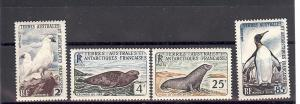 French Southern Antarctic FSAT,16-19,Wildlife Singles,**H**