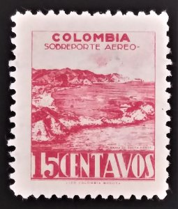 1945 COLOMBIA  15c   USED  STAMP - ID:7375