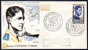 France 827 Typed FDC