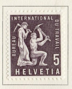 Switzerland Helvetia 1956 Early Issue Fine Mint Hinged 5c. NW-170841