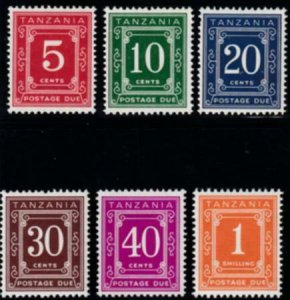 Tanzania 1969-1971 S SC J1b-J6b MLH Set