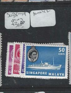 SINGAPORE  (P1404BB)  QEII  SG 38-49  LESS 42   MOG