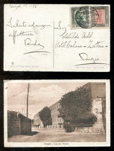 d397 - ITALY Colonies LIBYA 1922 Two Values on Tripoli Postcard