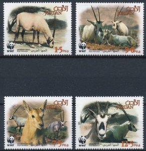 Jordan 2005 #1809-12 MNH. WWF, animals, oryx