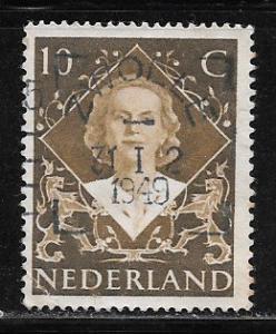 Netherlands 304, 10c Queen Juliana, Used, VF