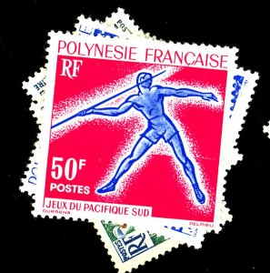 FRENCH POLYNESIA #1913-4 203-4 MINT FVF OG HR 203 GUM DIST Cat $45  Cat $45