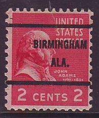 Birmingham AL, 806-61 Bureau Precancel, 2¢ J. Adams