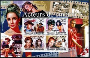 Burundi MNH S/S 955  Film Actors & Actresses 2011