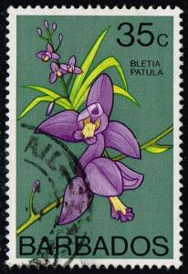 Barbados #406 Orchid; Used (2.10)
