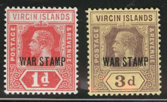 Virgin Islands  Scott MR1-MR2 MNH** 1916-18 War Tax set