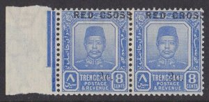 Trengganu Malaya : 1917 Red Cross 8c+2c pair ERROR CSOSS MNH **.
