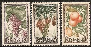 Algeria 229-31 Mint OG 1950 Fruits