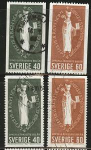SWEDEN Scott 643-646 used 1964 coils