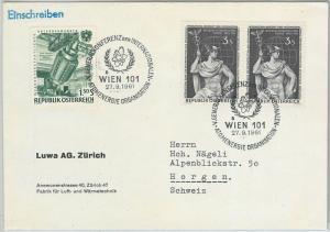 57795 -  NUCLEAR ENERGY -  AUSTRIA - POSTAL HISTORY: SPECIAL  POSTMARK   1961