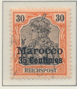 Germany, Offices In Morocco Stamp Scott #11, Used