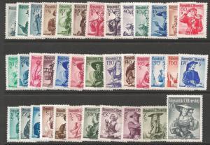 AUSTRIA SG1108/44 1948-52 DEFINITIVE SET MNH