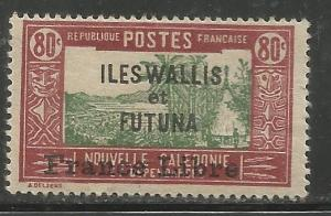 WALLIS & FUTUNA  114  MINT HINGED, NEW CALEDONIA STAMPS #63 W/ADD'L OVPT IN BLK
