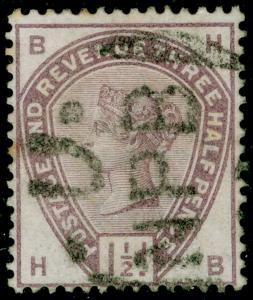 SG188, 1½d lilac, USED. Cat £45. HB