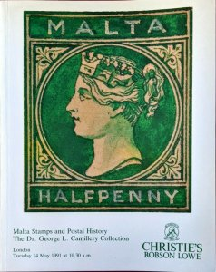 Auction Catalogue MALTA STAMPS and POSTAL HISTORY Dr George L Camillery