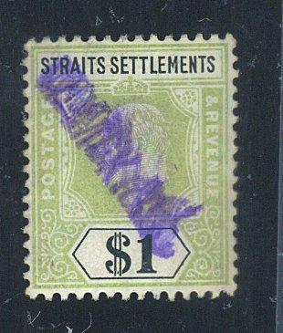 Strait Settlements #123 Used F-VF XCat$37.50