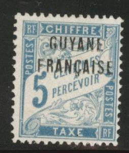 French Guiana Scott J1 MH* Postage Due stamp