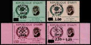 Haiti Scott 578-579, C288, CB57 (1968) Mint NH VF Complete Set, CV $6.50 C
